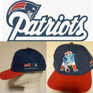 NWOT New England Patriots Budweiser NFL hat